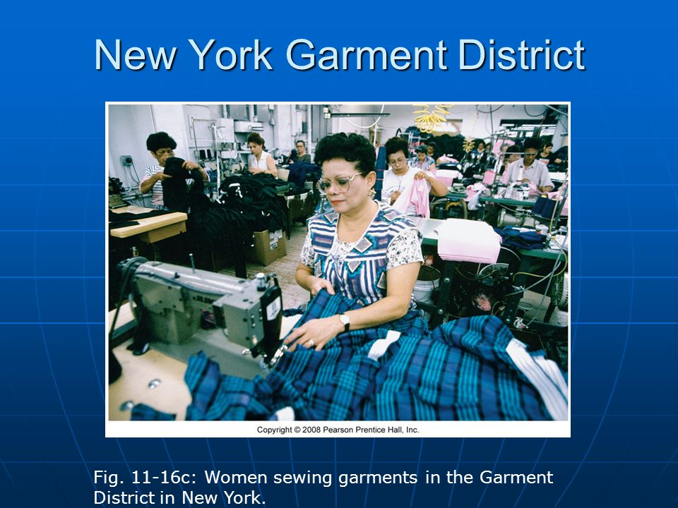 New York Garment District Fig. 11-16c: Women sewing garments in the Garment District in New York.