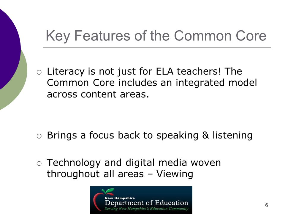 Key Features of the Common Core  Format has some similarities with NECAP.