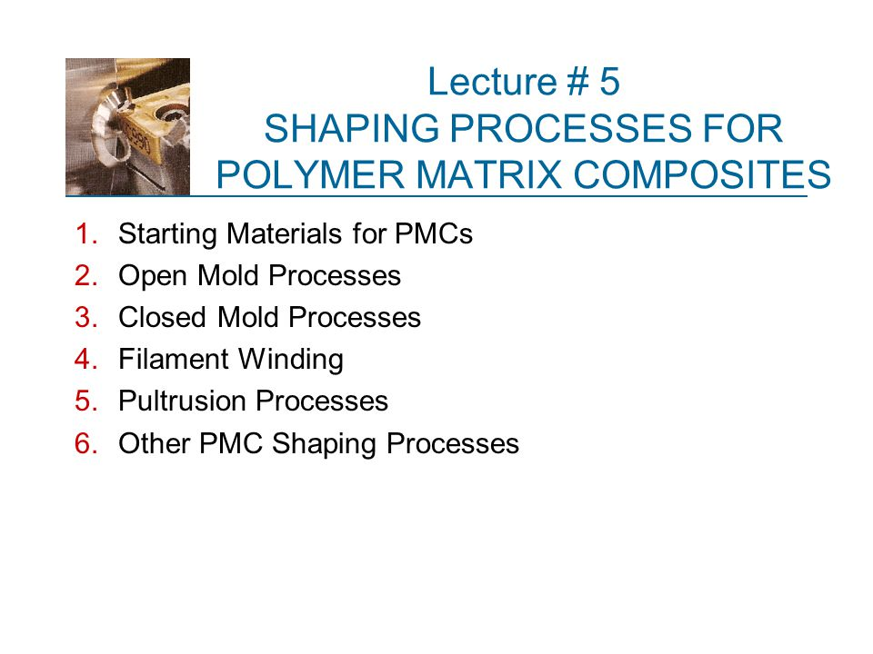 Overview of PMC Technology A polymer matrix composite (PMC) is a composite material consisting of a polymer imbedded with a reinforcing phase such as fibers or powders  PMC processes are important due to the growing use of PMCs, especially fiber ‑ reinforced polymers (FRPs)  FRP composites can be designed with very high strength ‑ to ‑ weight and modulus ‑ to ‑ weight ratios  These features make them attractive in aircraft, cars, trucks, boats, and sports equipment