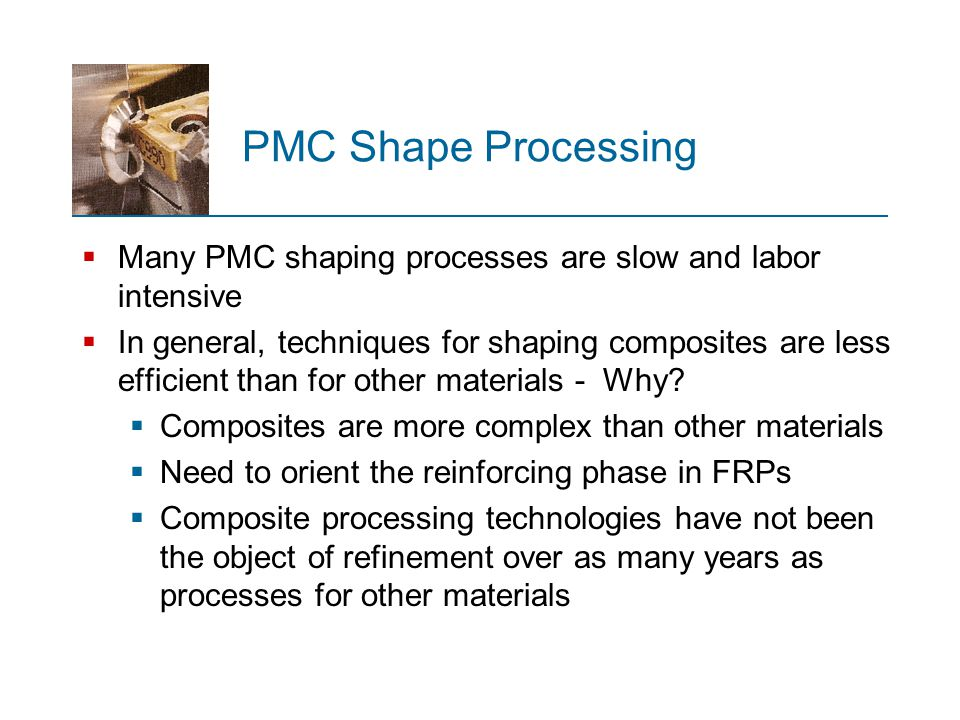 Categories of FRP Shaping Processes  Open mold processes - Based on FRP manual procedures for laying resins and fibers onto forms  Closed mold processes - similar to plastics molding  Filament winding - continuous filaments are dipped in liquid resin and wrapped around a rotating mandrel, producing a rigid, hollow, cylindrical shape  Pultrusion - similar to extrusion only adapted to include continuous fiber reinforcement  Other - operations not in previous categories