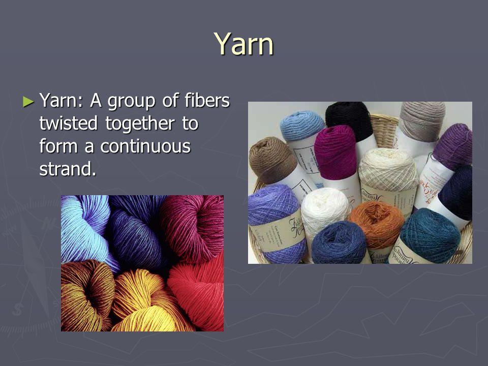 Bias Bias: The diagonal grain of a fabric. It gives (stretch).