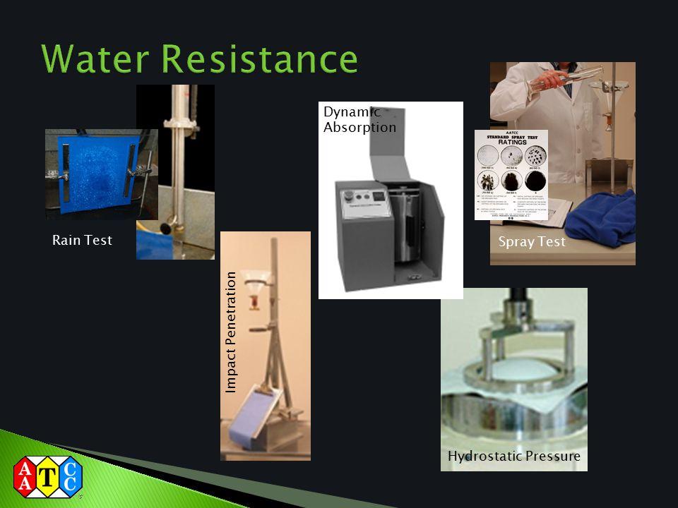Rain Test Hydrostatic Pressure Impact Penetration Dynamic Absorption Spray Test