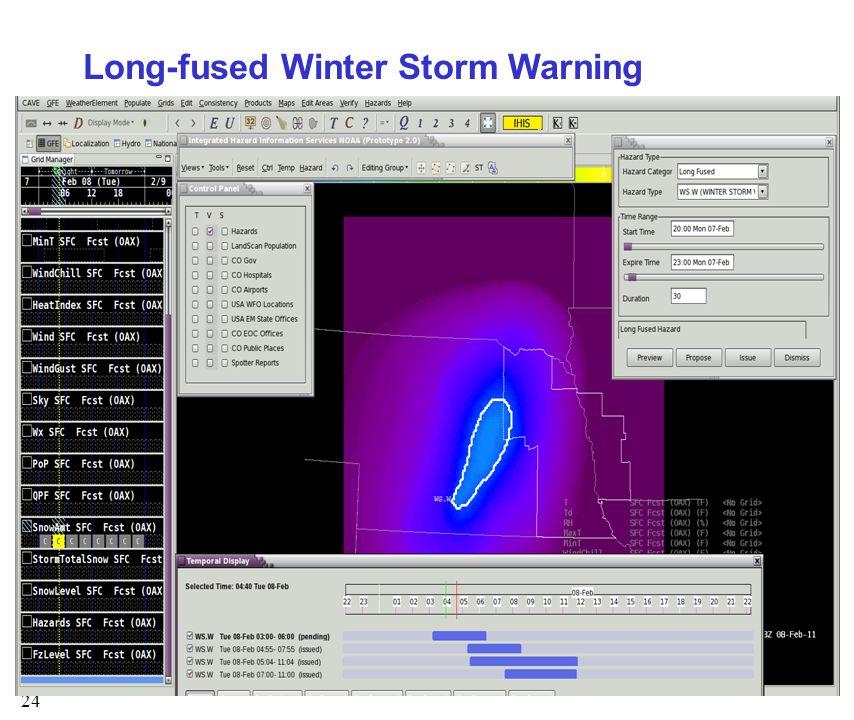 24 Long-fused Winter Storm Warning