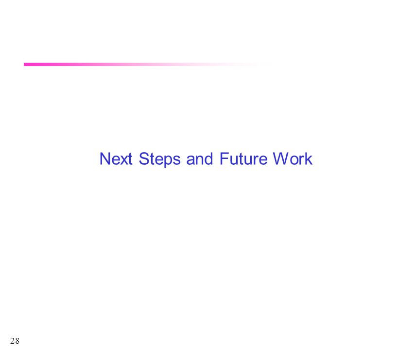 28 Next Steps and Future Work