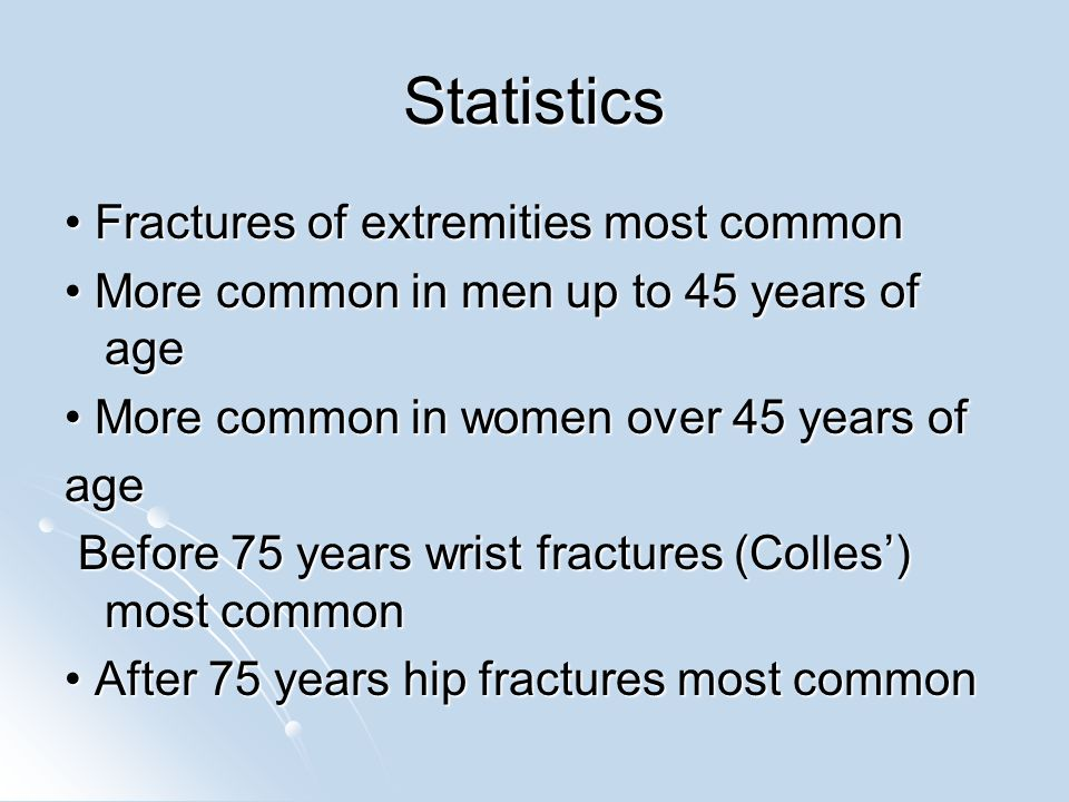 Types of fractures Magnitude and direction of force Magnitude and direction of force Closed Closed – Bone fragments do not pierce skin Open/compound Open/compound – Bone fragments pierce skin Displaced or undisplaced Displaced or undisplaced