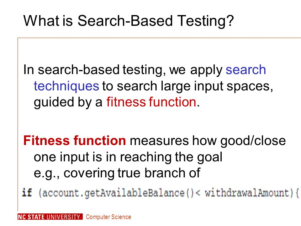 Computer Science What is Search-Based Testing.