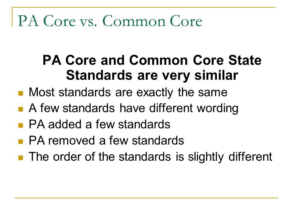PA Core vs.