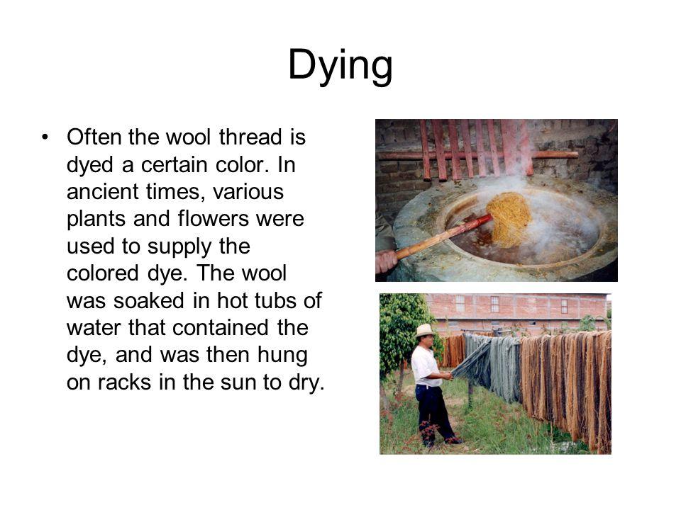 The Loom Roman women wove the wool thread into cloth upon a very simple loom.