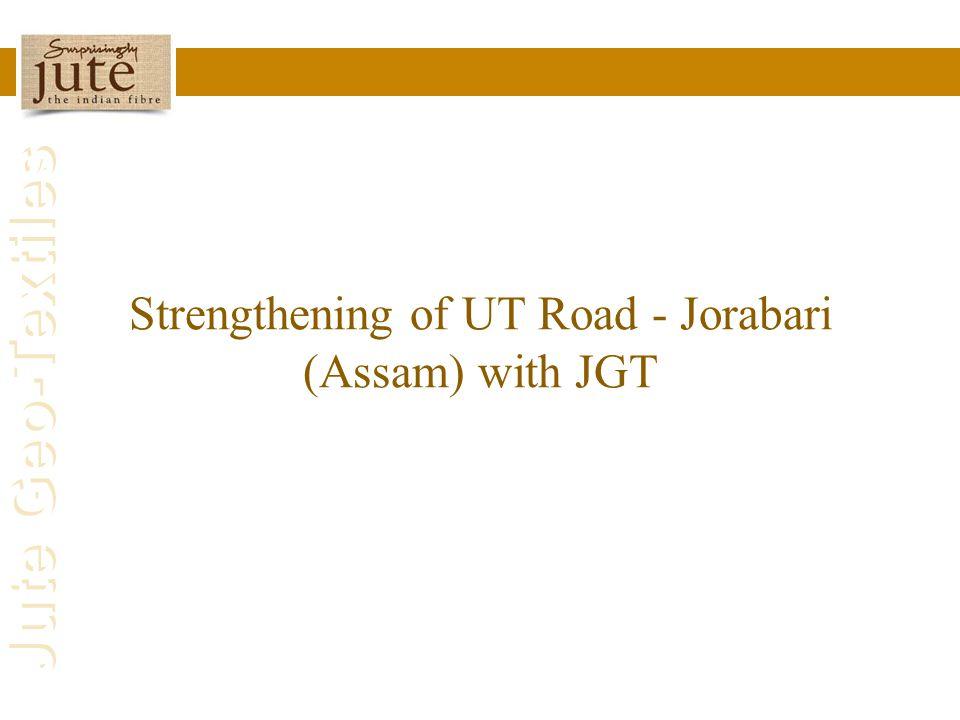 Jute Geo-Textiles Strengthening of UT Road - Jorabari (Assam) with JGT