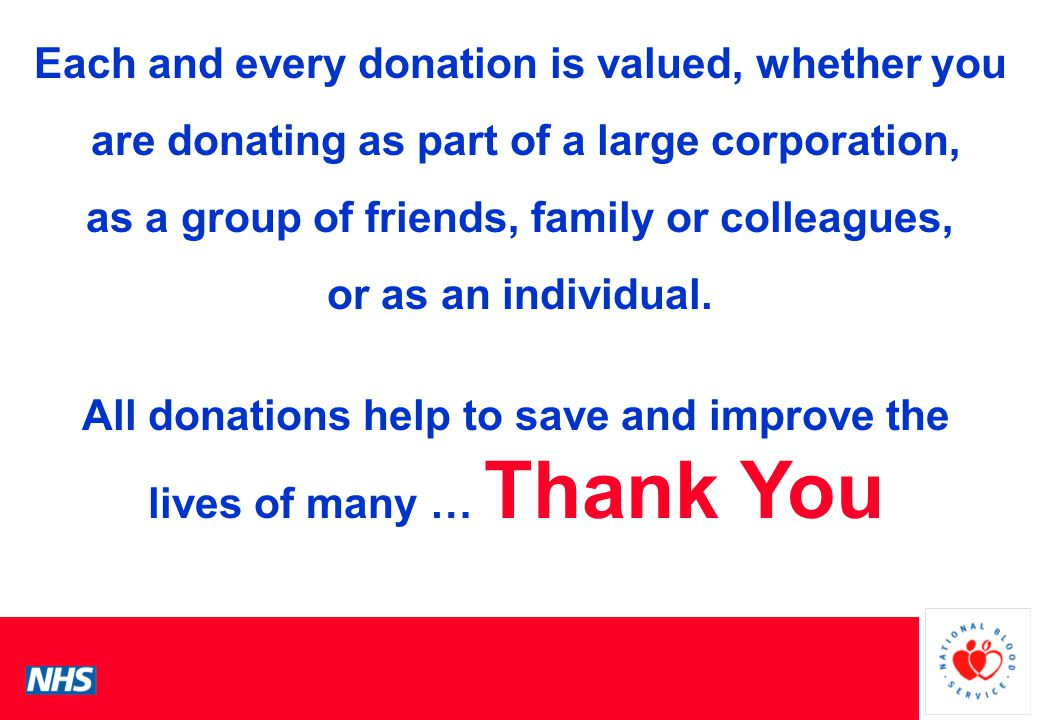 PCS Conference Each and every donation is valued, whether you are donating as part of a large corporation, as a group of friends, family or colleagues, or as an individual.