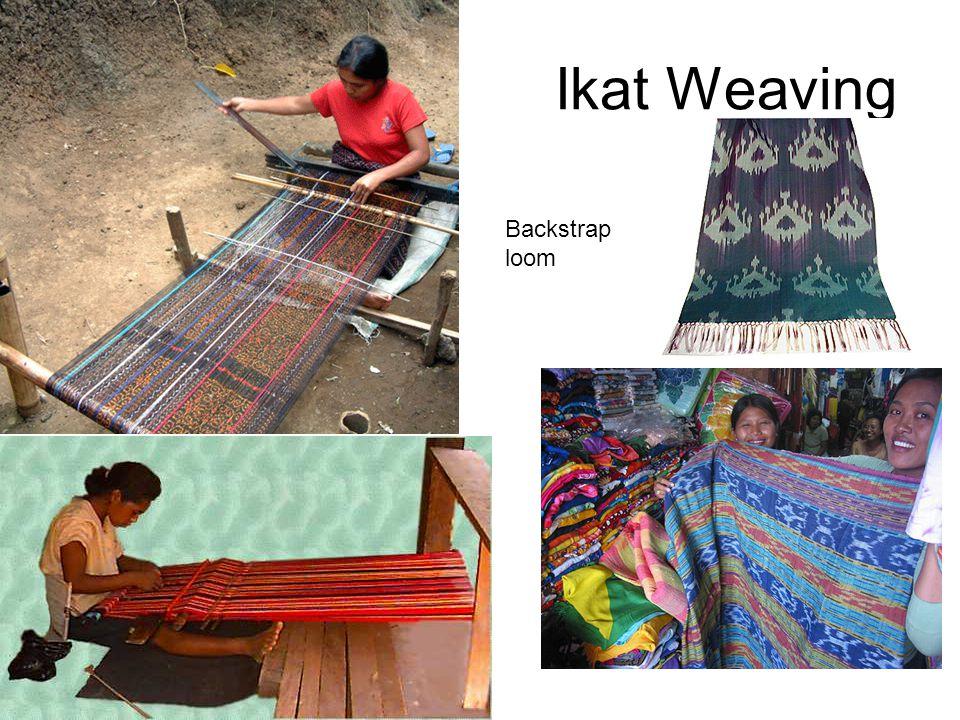 Ikat Weaving Backstrap loom