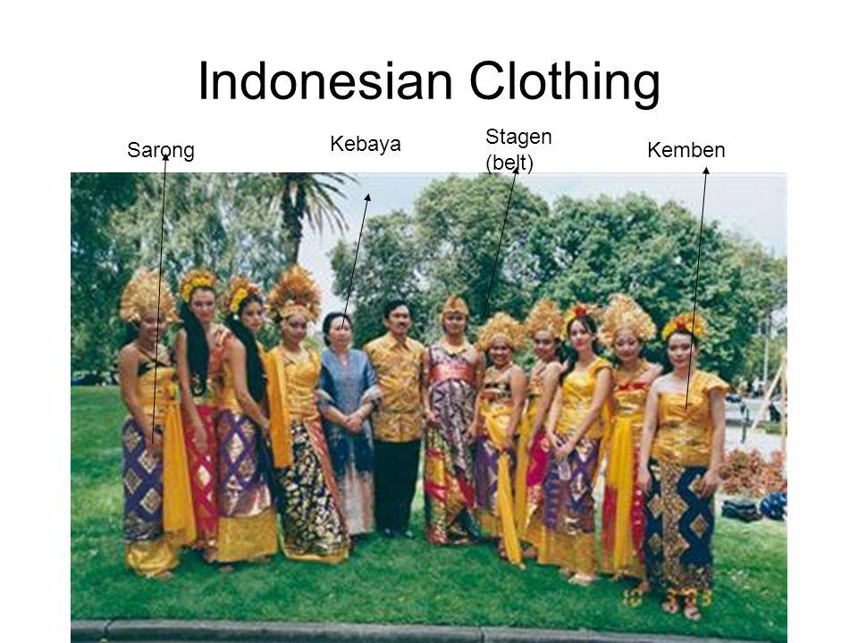 Indonesian Clothing Kemben Kebaya Stagen (belt) Sarong