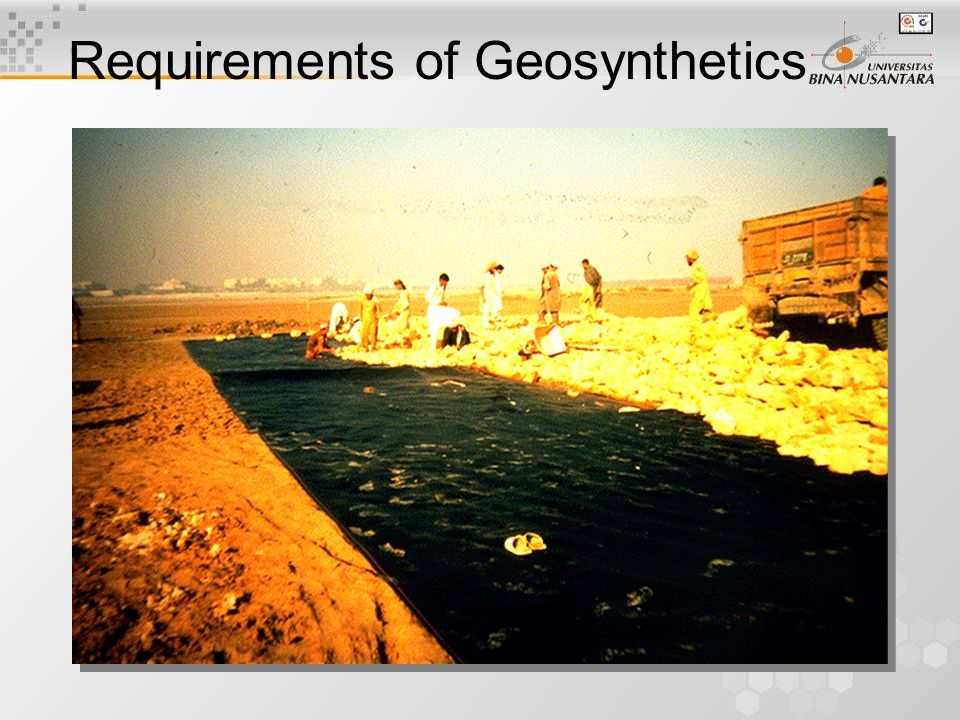 Basal Reinforcement using Geotextiles Requirements of Geosynthetics