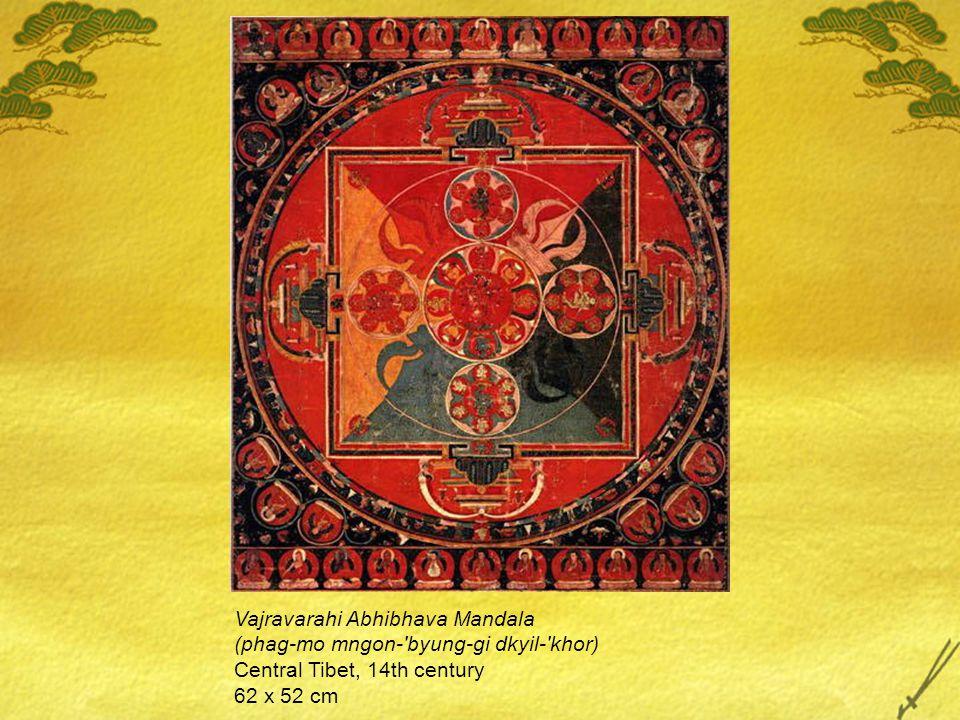 Vajravarahi Abhibhava Mandala (phag-mo mngon- byung-gi dkyil- khor) Central Tibet, 14th century 62 x 52 cm