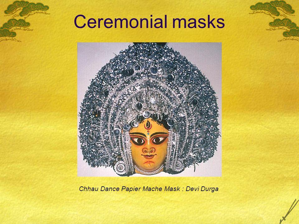 Ceremonial masks Chhau Dance Papier Mache Mask : Devi Durga