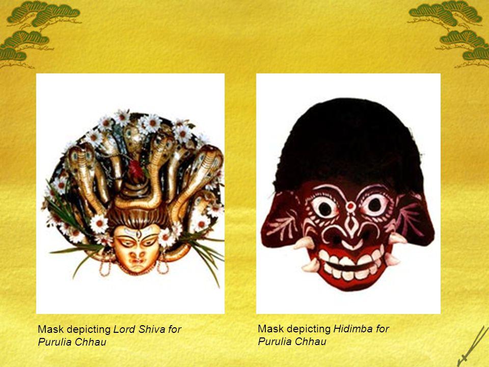 Mask depicting Lord Shiva for Purulia Chhau Mask depicting Hidimba for Purulia Chhau