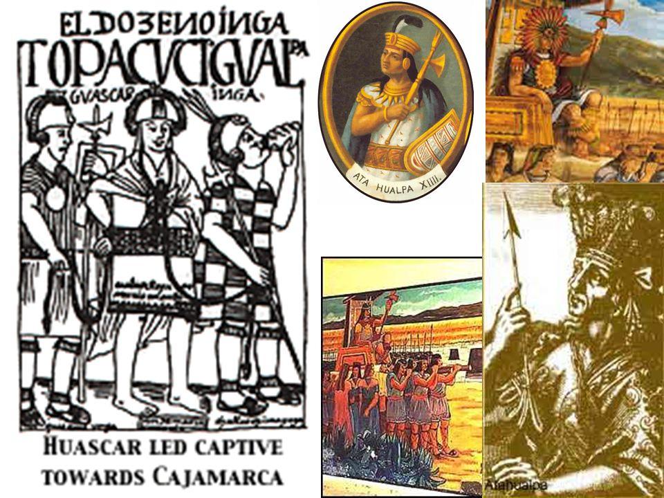 Capture of Atahualpa in Cajamarca.
