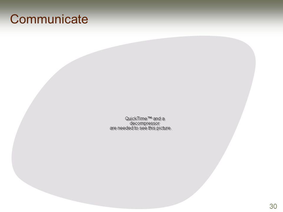 30 Communicate