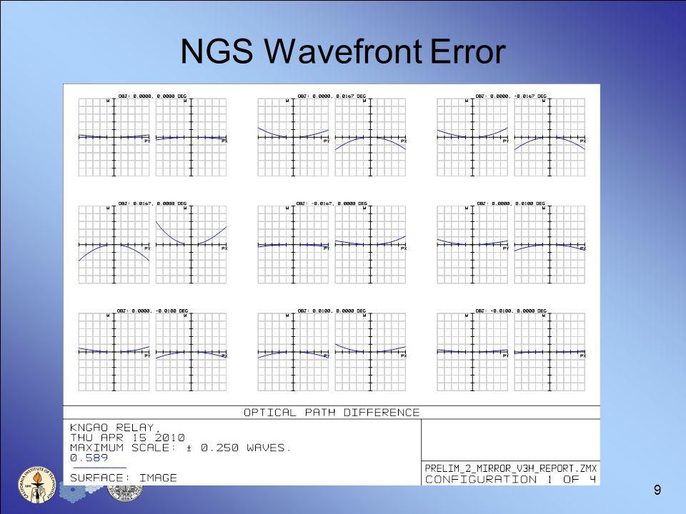 9 NGS Wavefront Error