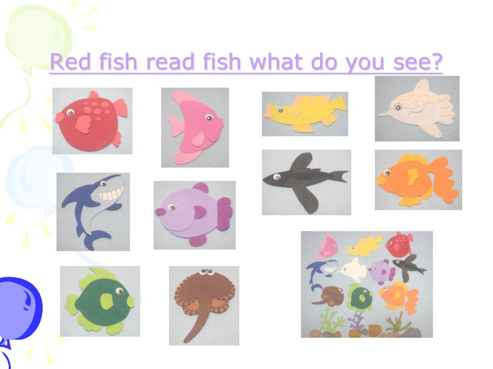 Red fish read fish what do you see Red fish read fish what do you see
