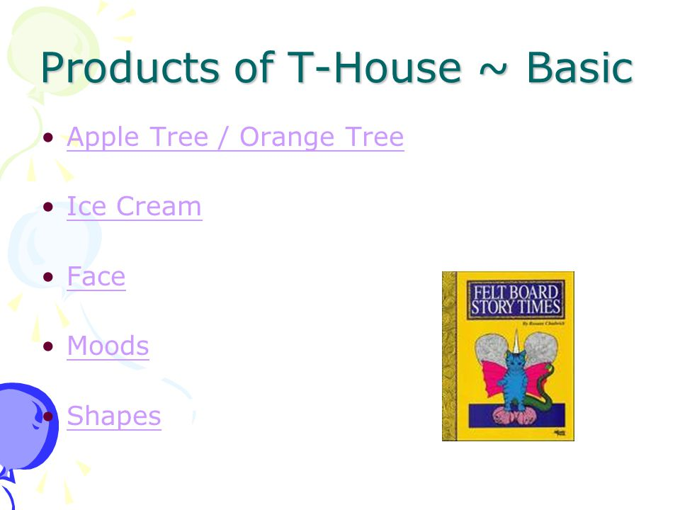 Products of T-House ~ Basic Apple Tree / Orange Tree Ice Cream Face Moods Shapes