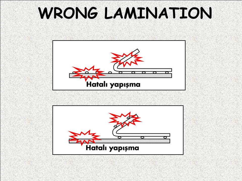 WRONG LAMINATION