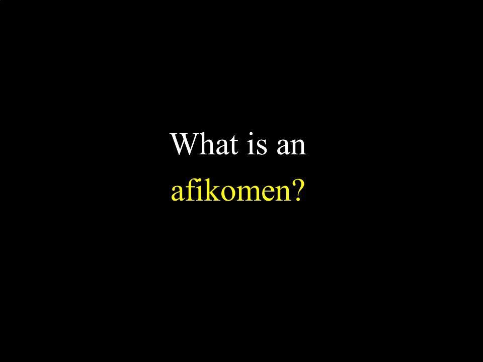 What is an afikomen