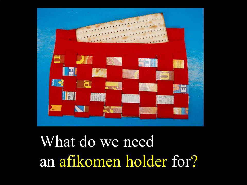 What do we need an afikomen holder for