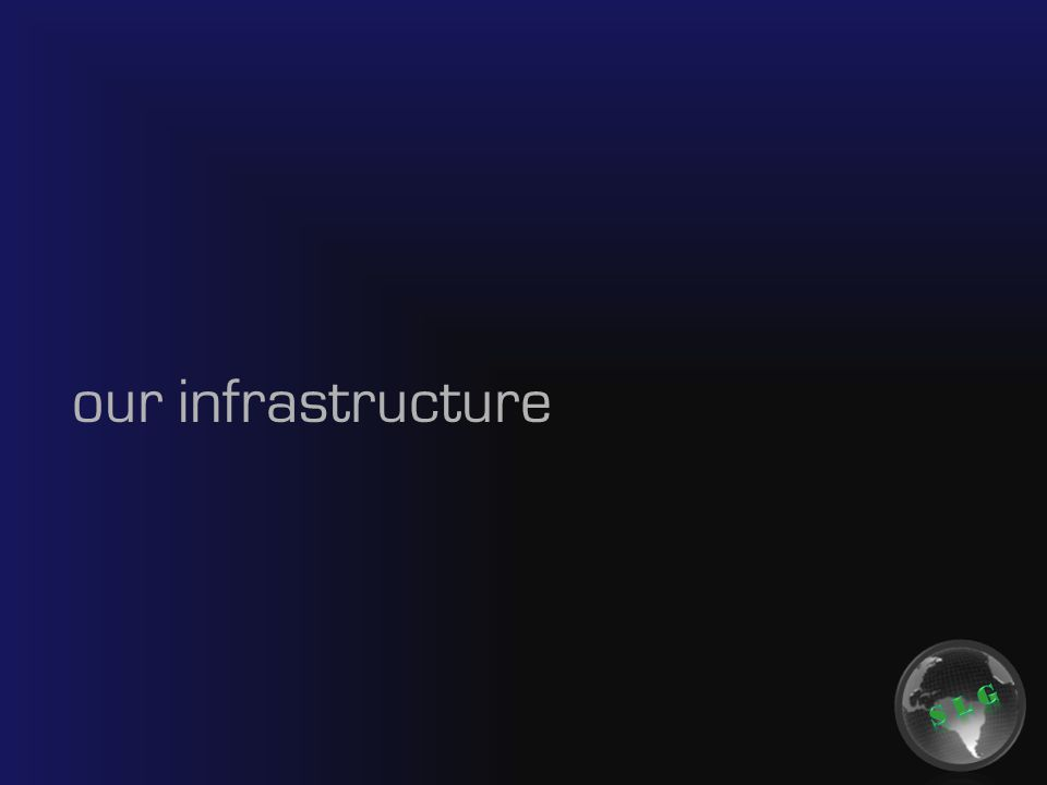 our infrastructure