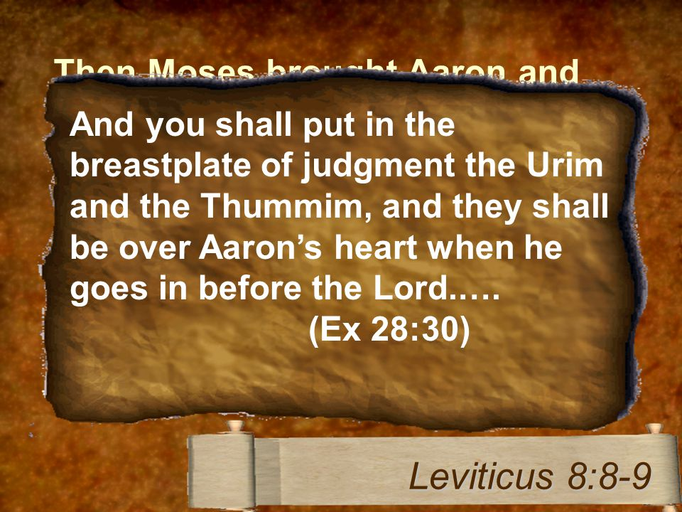 Then Moses brought Aaron and his sons and washed them with water.