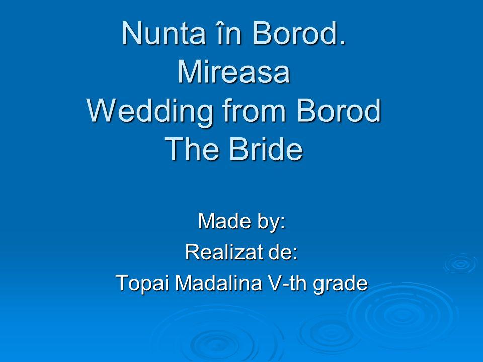Nunta în Borod.