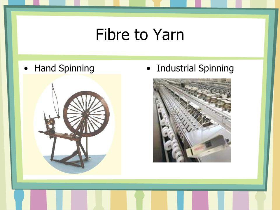 Fibre to Yarn Hand SpinningIndustrial Spinning