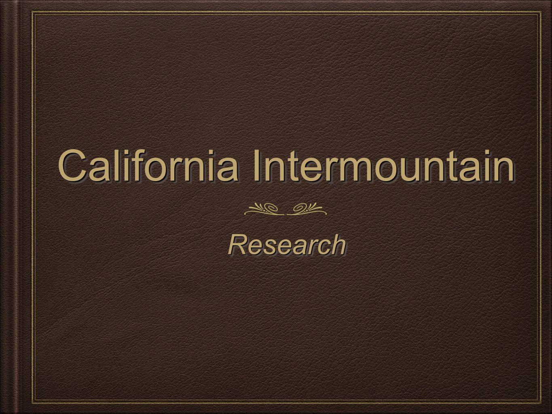 California Intermountain ResearchResearch