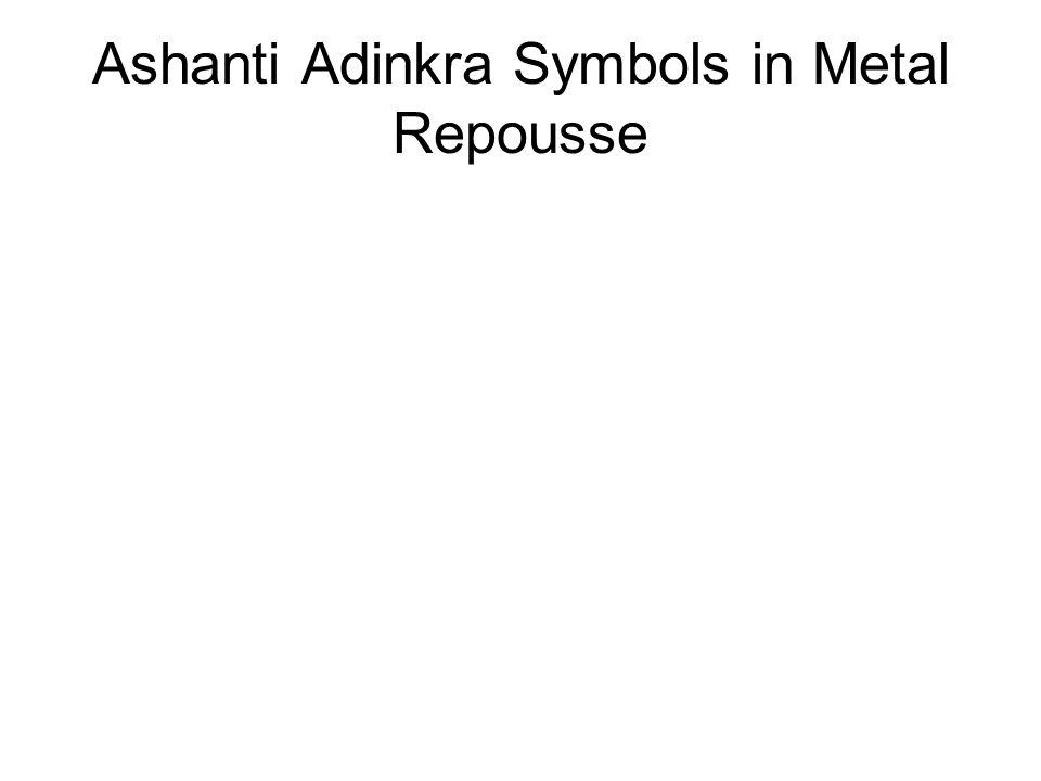 Ashanti Adinkra Symbols in Metal Repousse