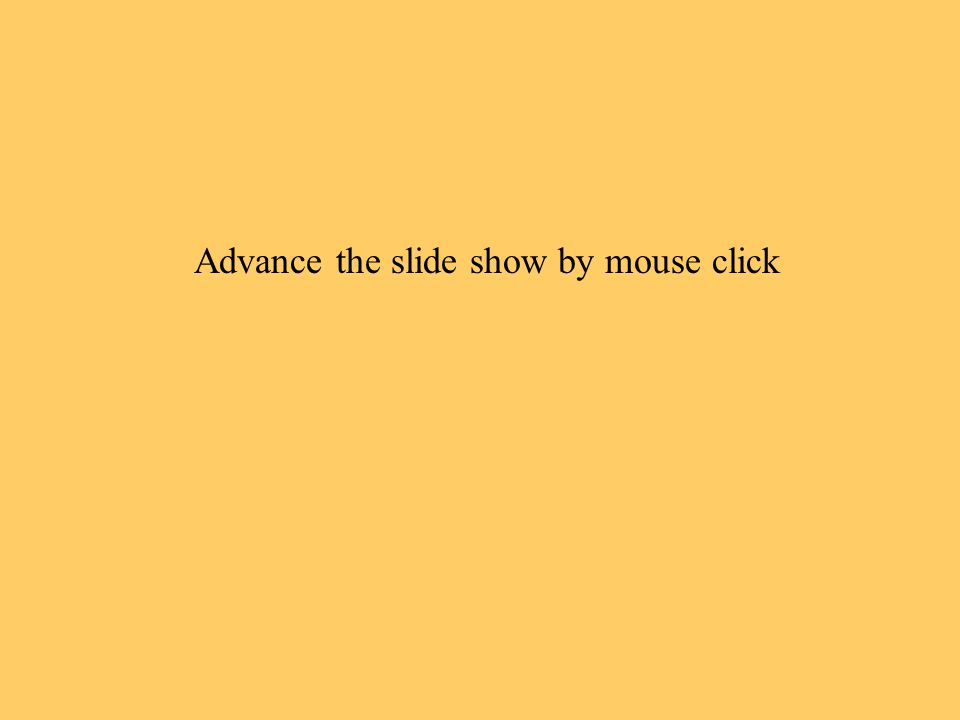 Advance the slide show by mouse click