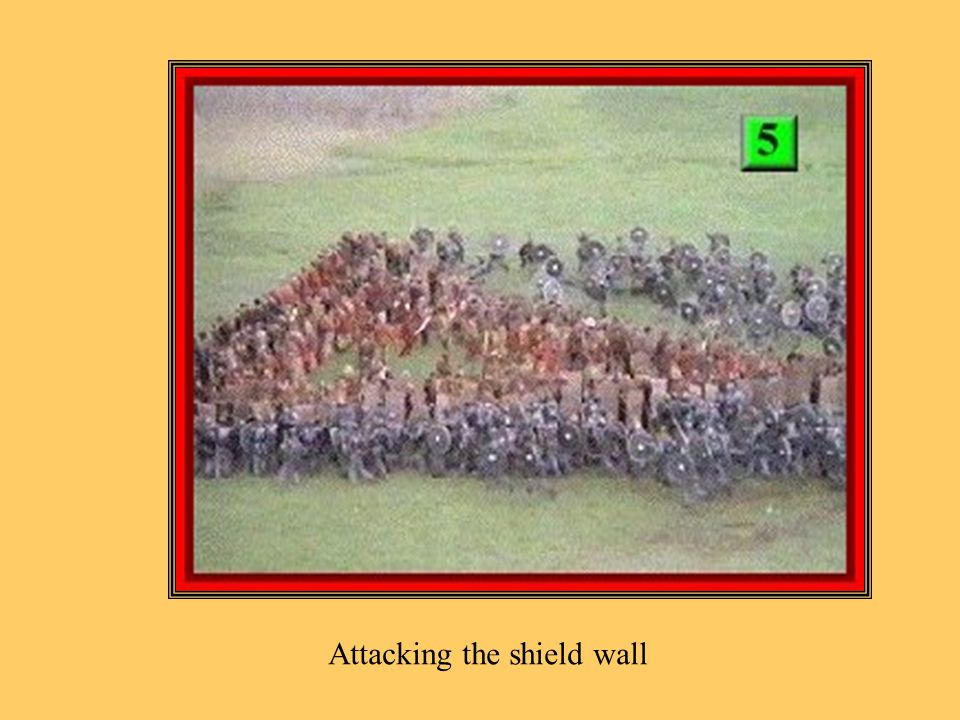 Attacking the shield wall