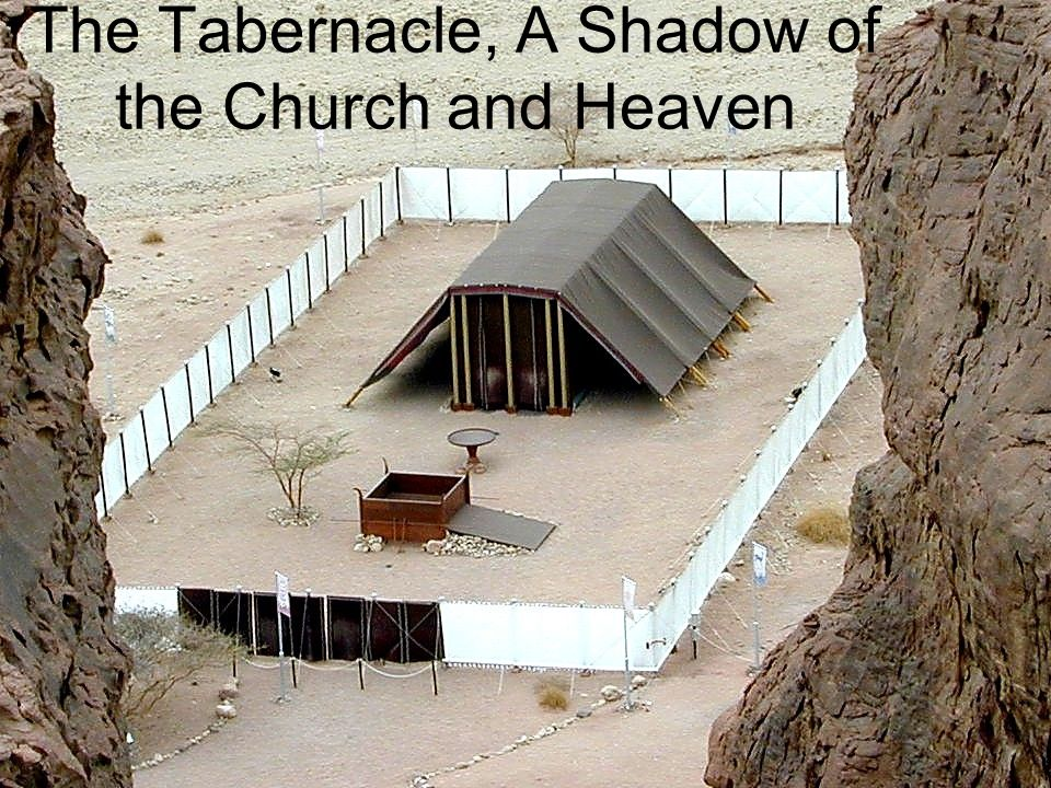 According to the Pattern Hebrews 8:5 Who serve the copy and shadow of the heavenly things, as Moses was divinely instructed when he was about to make the tabernacle.