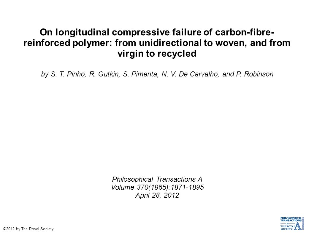 On longitudinal compressive failure of carbon-fibre- reinforced polymer: from unidirectional to woven, and from virgin to recycled by S.