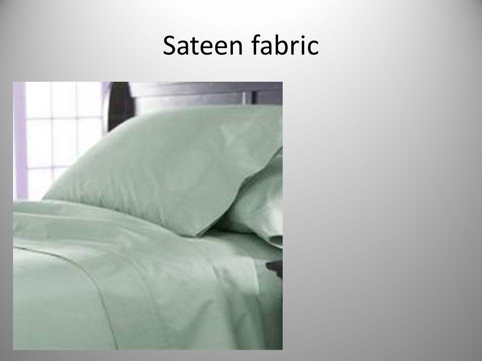 Sateen fabric