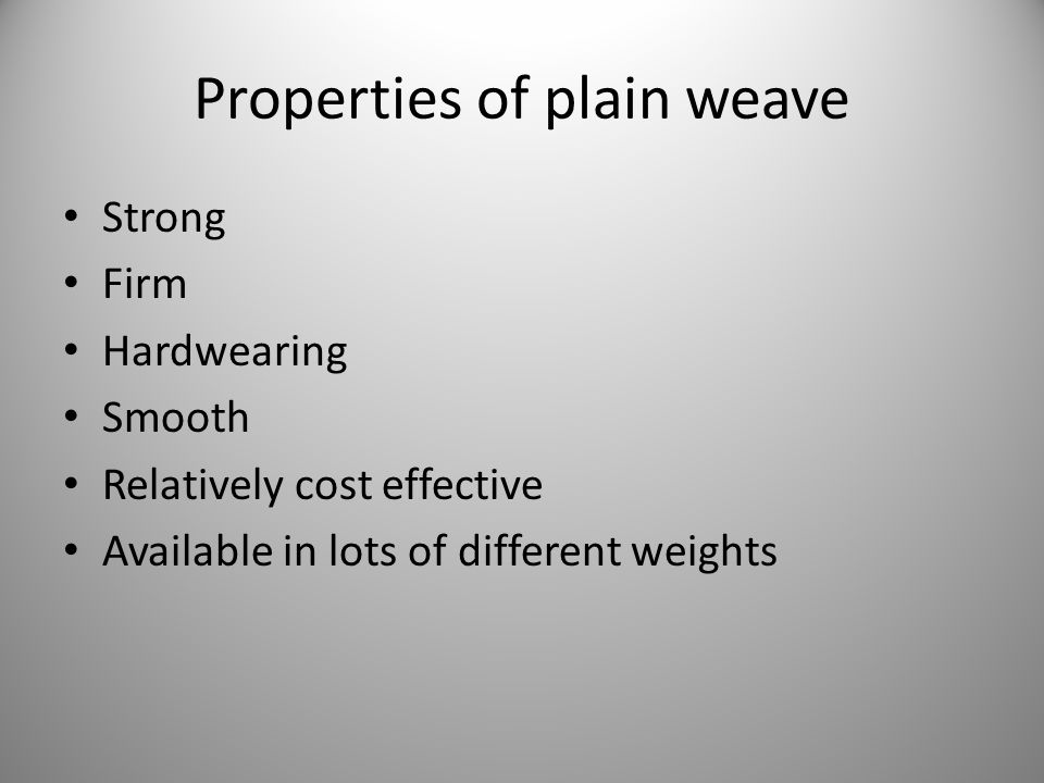Fabric mixture Is made with the warp of one fibre and the weft of another, e.g.