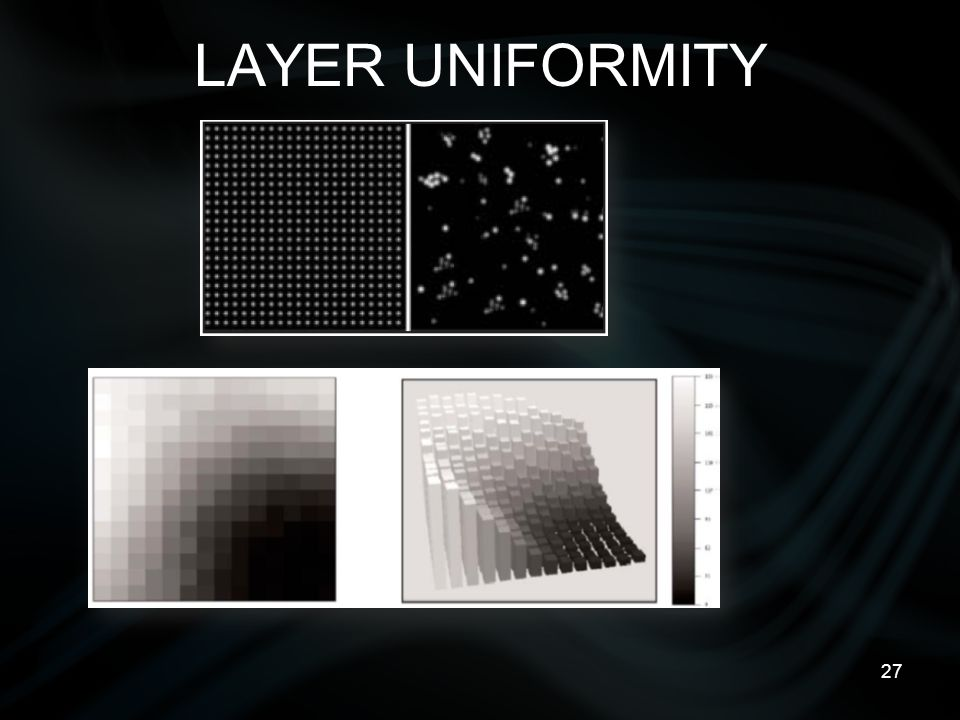 27 LAYER UNIFORMITY