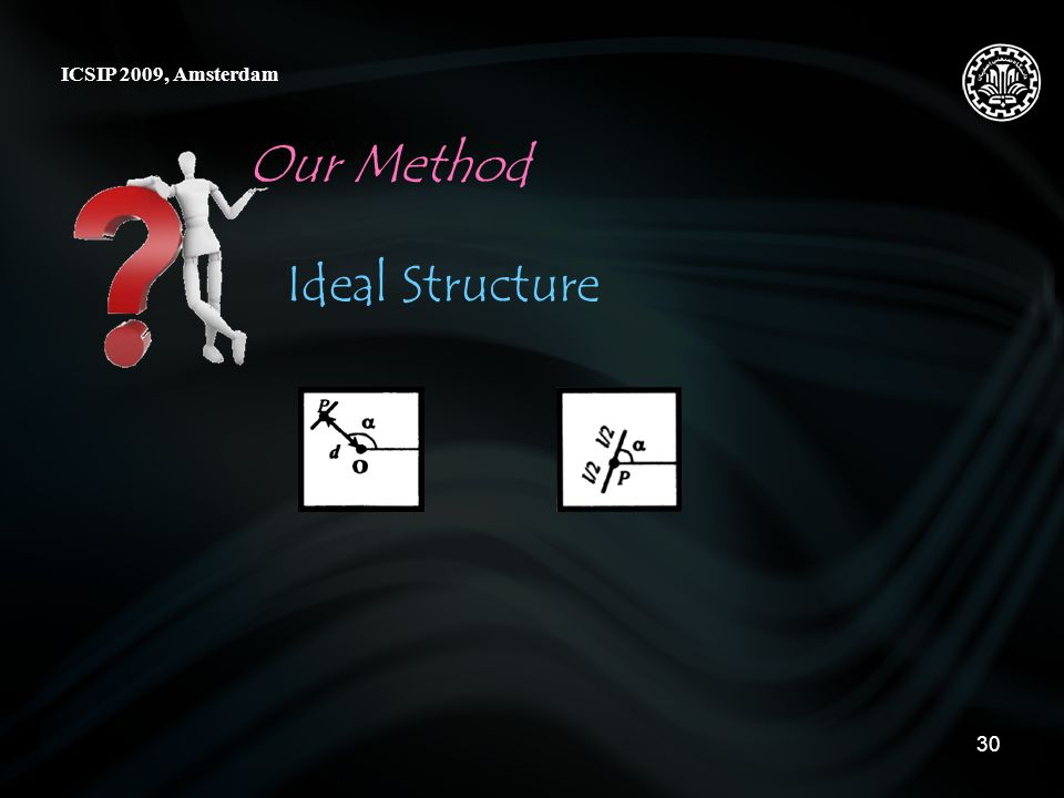 30 Our Method ICSIP 2009, Amsterdam Ideal Structure