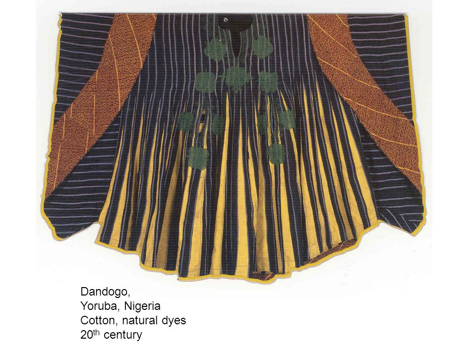 Dandogo, Yoruba, Nigeria Cotton, natural dyes 20 th century