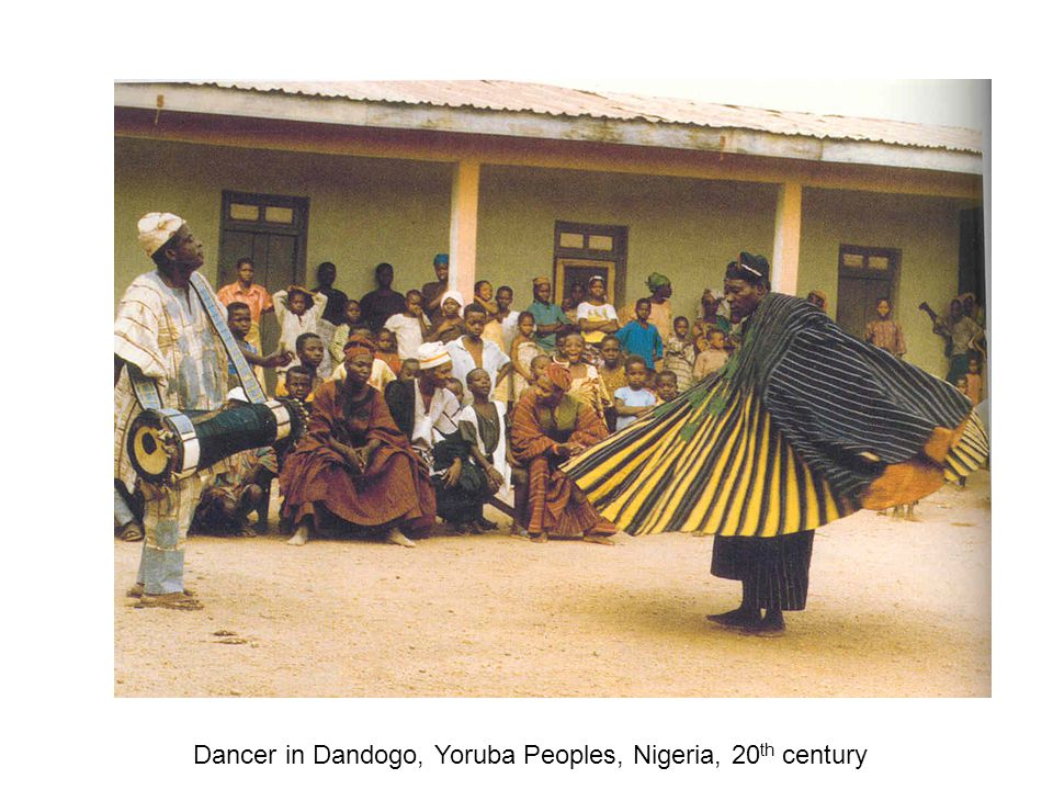 Dancer in Dandogo, Yoruba Peoples, Nigeria, 20 th century