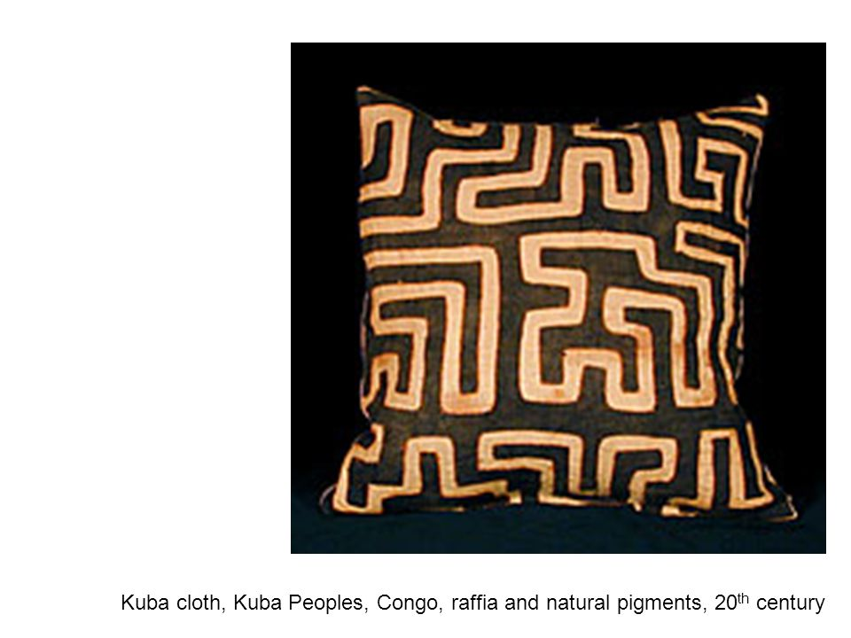 Kuba cloth, Kuba Peoples, Congo, raffia and natural pigments, 20 th century