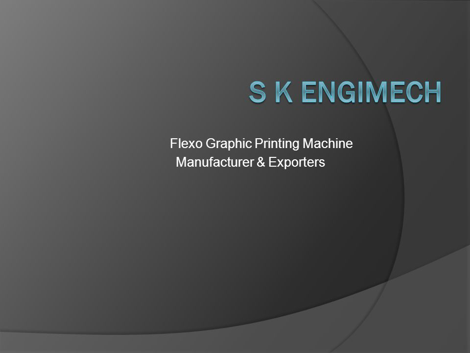Flexo Graphic Printing Machine Manufacturer & Exporters