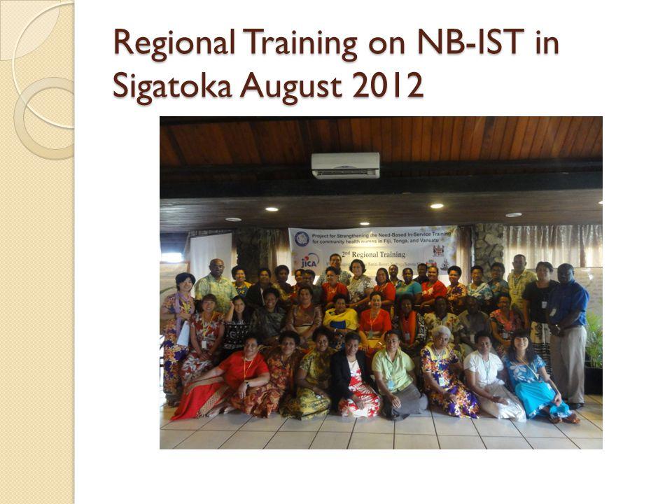 Regional Training on NB-IST in Sigatoka August 2012
