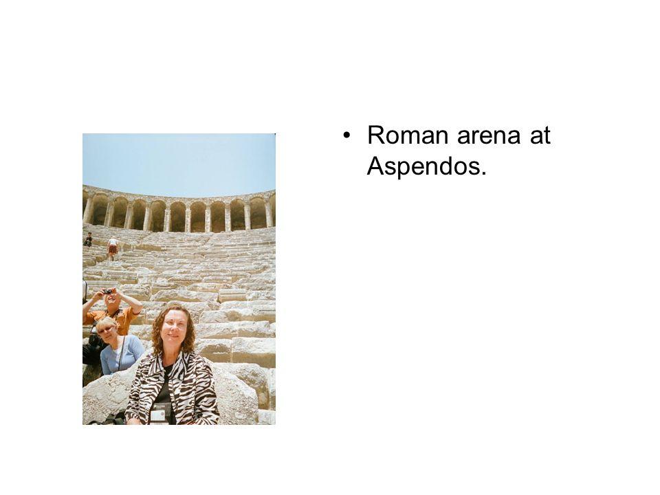 Roman arena at Aspendos.