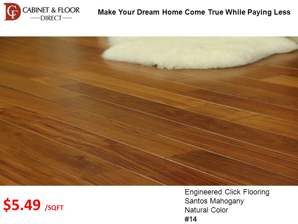 Make Your Dream Home Come True While Paying Less Solid Wood Flooring Cherry Oak Cherry Color#35 $3.29 /SQFT