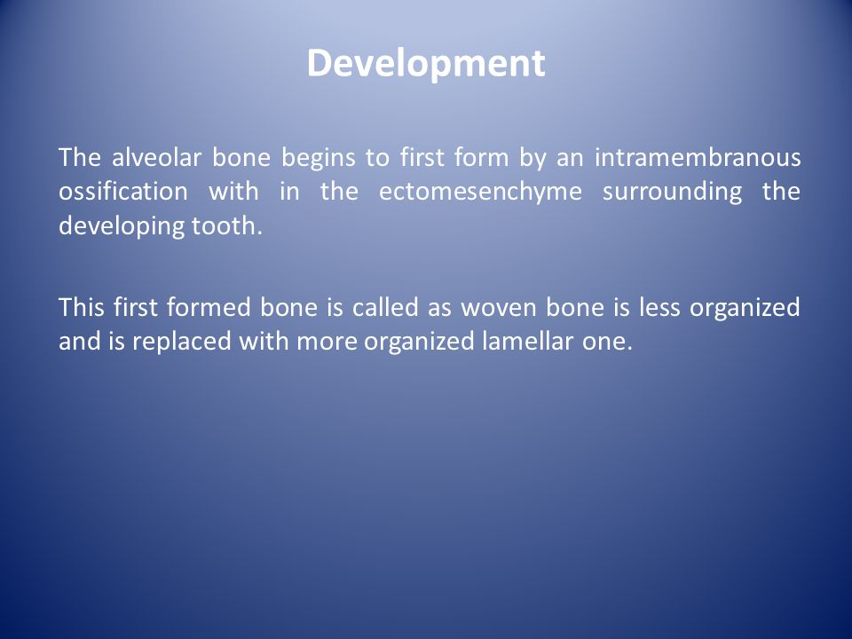 When a deciduous tooth is shed, its alveolar bone is resorbed.